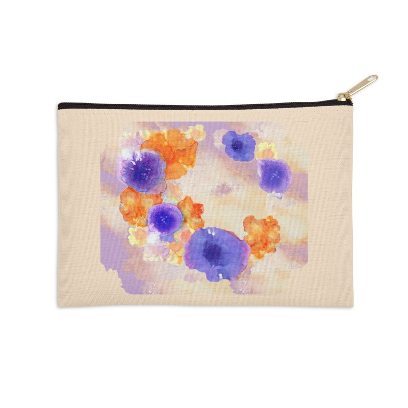 Flower Garden Accessories Zip Pouch by Patricia Howitt's Artist Shop