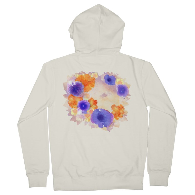 Flower Garden Women's French Terry Zip-Up Hoody by Patricia Howitt's Artist Shop
