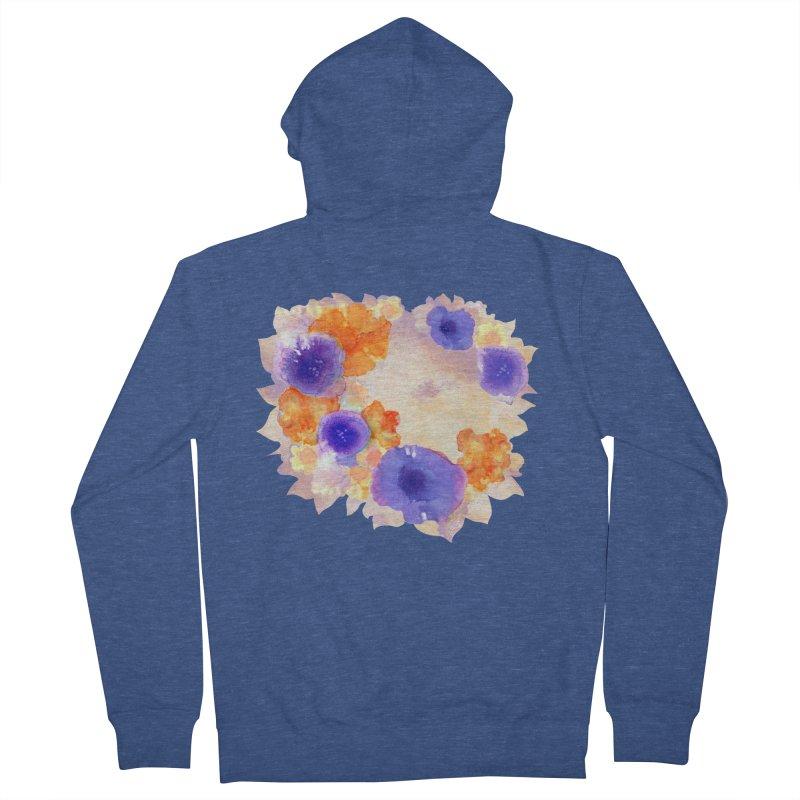 Flower Garden Men's Zip-Up Hoody by Patricia Howitt's Artist Shop