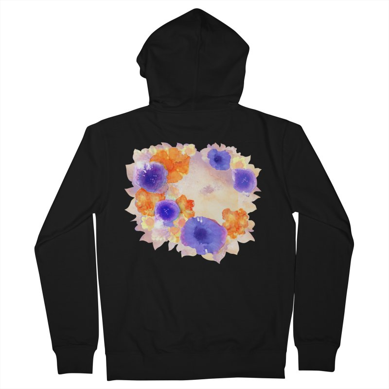 Flower Garden Men's French Terry Zip-Up Hoody by Patricia Howitt's Artist Shop