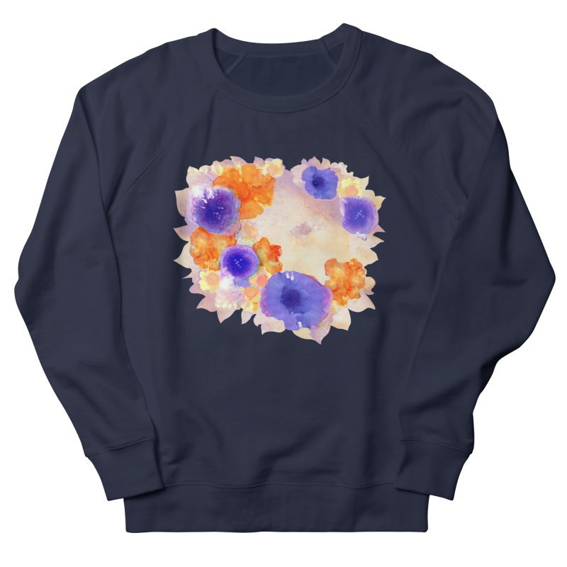Flower Garden Women's French Terry Sweatshirt by Patricia Howitt's Artist Shop