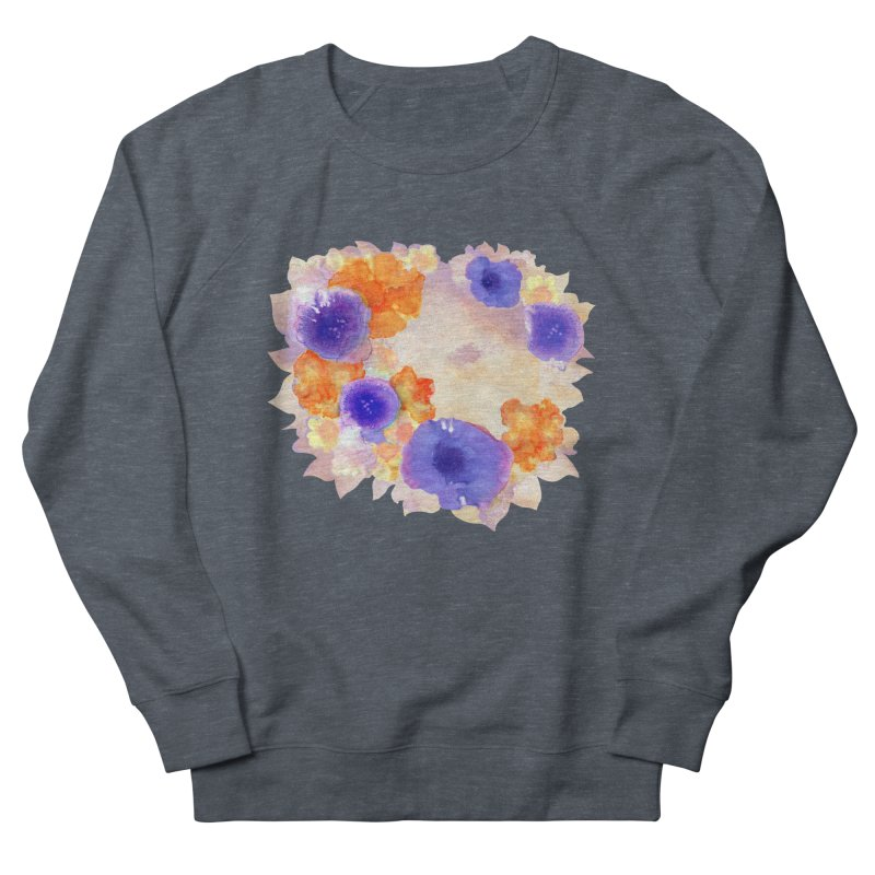 Flower Garden Men's French Terry Sweatshirt by Patricia Howitt's Artist Shop