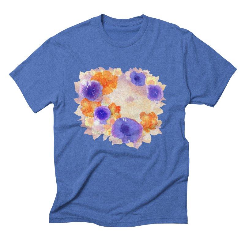 Flower Garden Men's Triblend T-Shirt by Patricia Howitt's Artist Shop