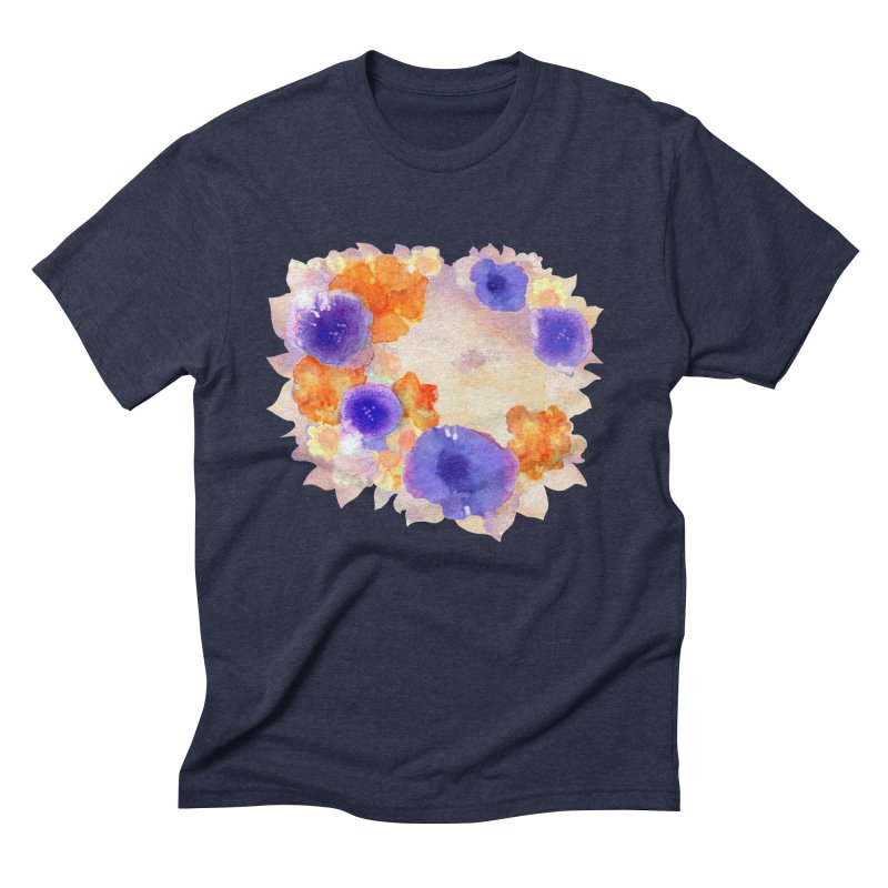 Flower Garden Men's Triblend T-Shirt by Patricia Howitt's Artist Shop