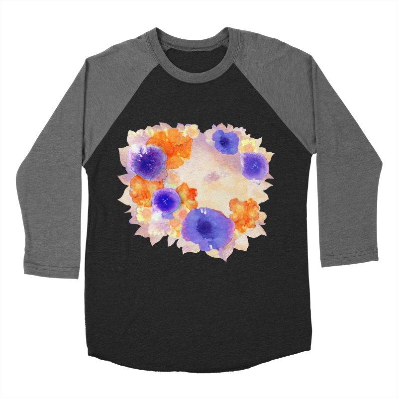 Flower Garden Men's Baseball Triblend T-Shirt by Patricia Howitt's Artist Shop