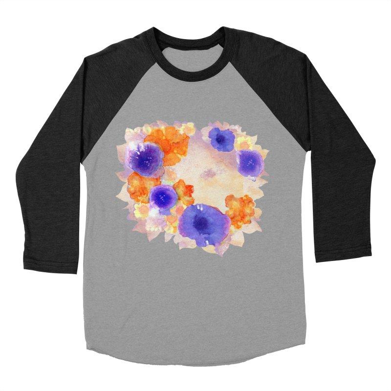 Flower Garden Men's Baseball Triblend Longsleeve T-Shirt by Patricia Howitt's Artist Shop