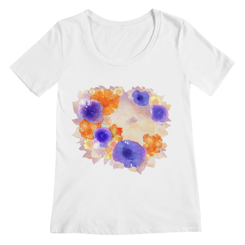 Flower Garden Women's Regular Scoop Neck by Patricia Howitt's Artist Shop