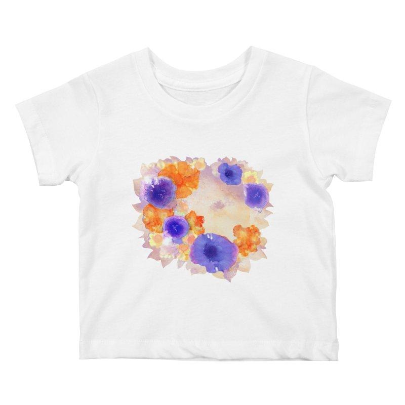 Flower Garden Kids Baby T-Shirt by Patricia Howitt's Artist Shop