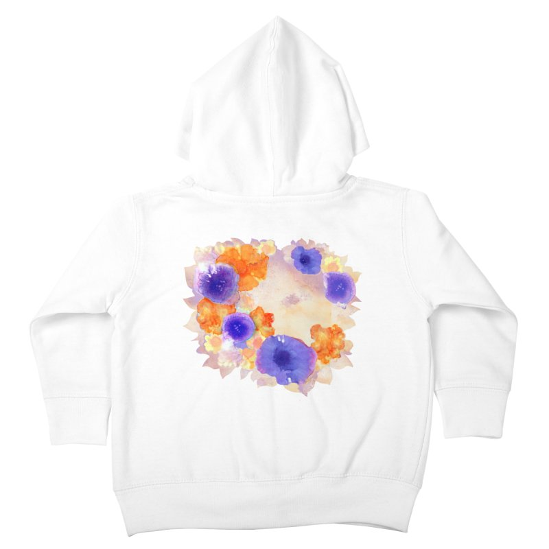 Flower Garden Kids Toddler Zip-Up Hoody by Patricia Howitt's Artist Shop