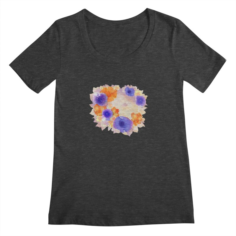 Flower Garden Women's Scoopneck by Patricia Howitt's Artist Shop
