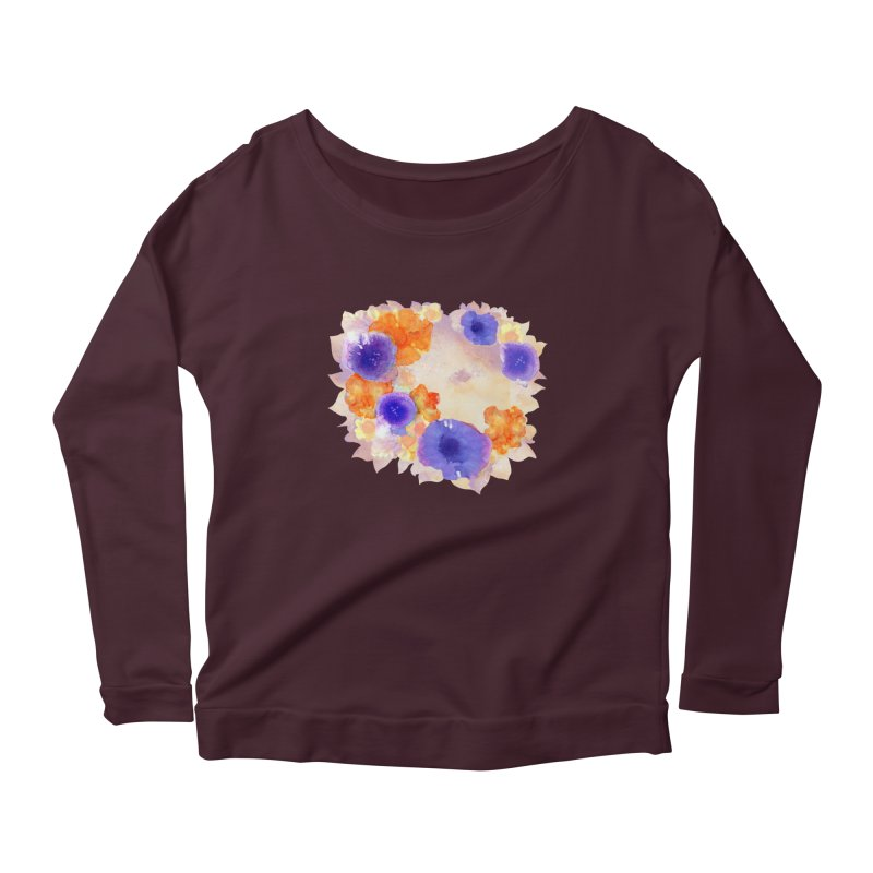 Flower Garden Women's Scoop Neck Longsleeve T-Shirt by Patricia Howitt's Artist Shop