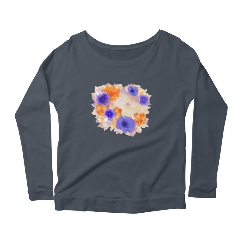 Flower Garden Women's Scoop Neck Longsleeve T-Shirt by Patricia Howitt's Artist Shop