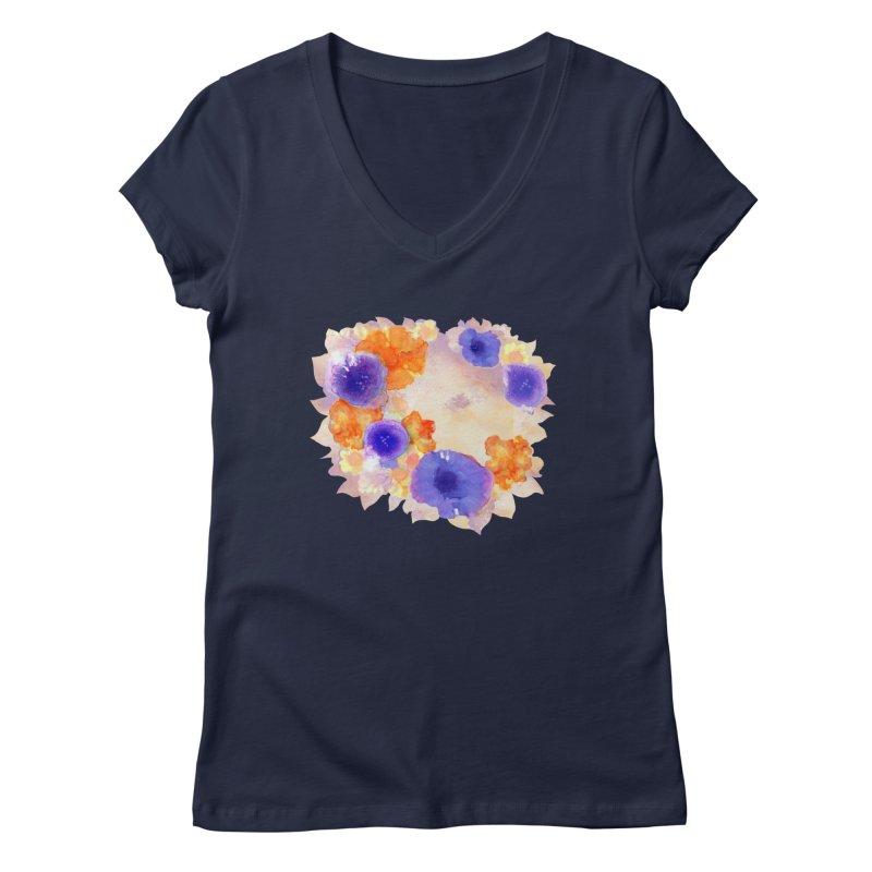 Flower Garden Women's Regular V-Neck by Patricia Howitt's Artist Shop