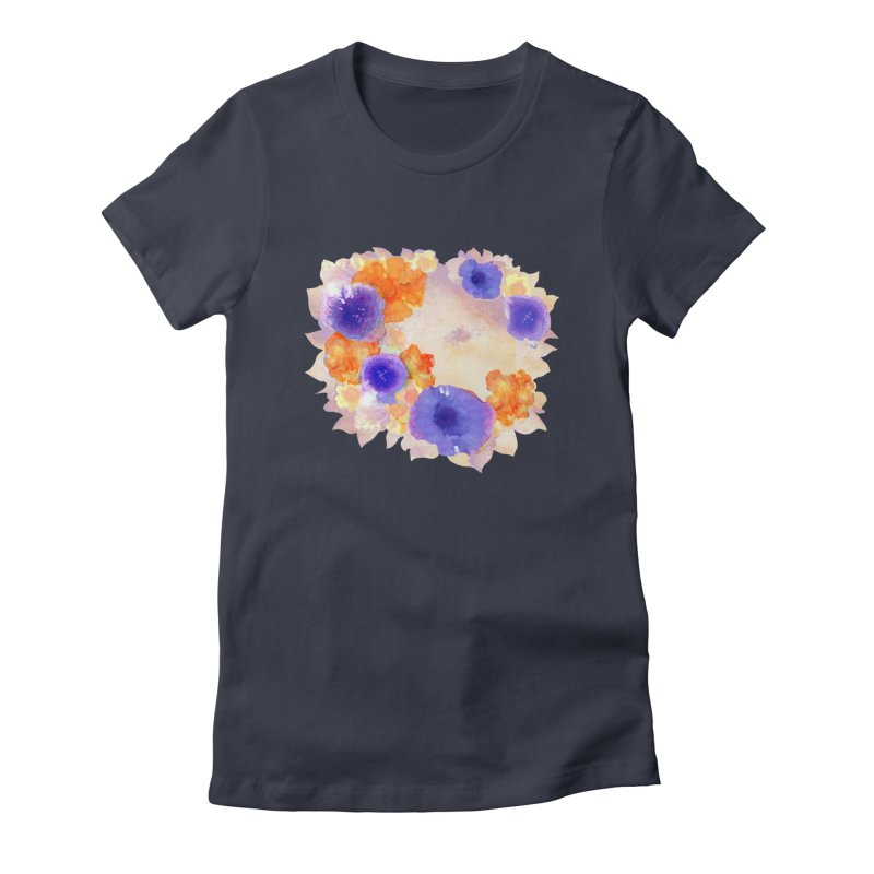 Flower Garden Women's Fitted T-Shirt by Patricia Howitt's Artist Shop