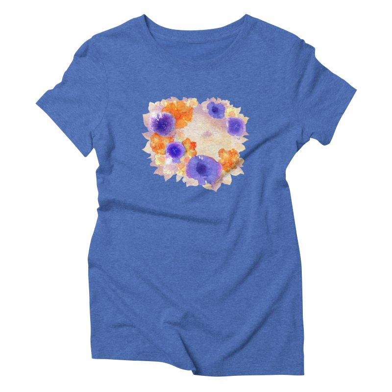 Flower Garden Women's Triblend T-Shirt by Patricia Howitt's Artist Shop