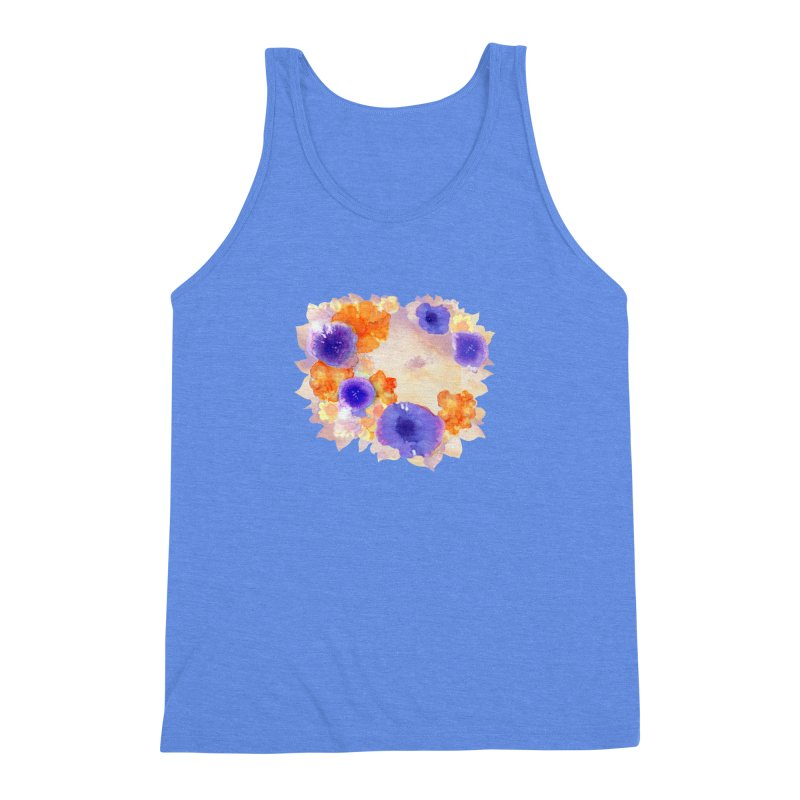 Flower Garden Men's Triblend Tank by Patricia Howitt's Artist Shop