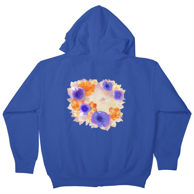Flower Garden Kids Zip-Up Hoody by Patricia Howitt's Artist Shop