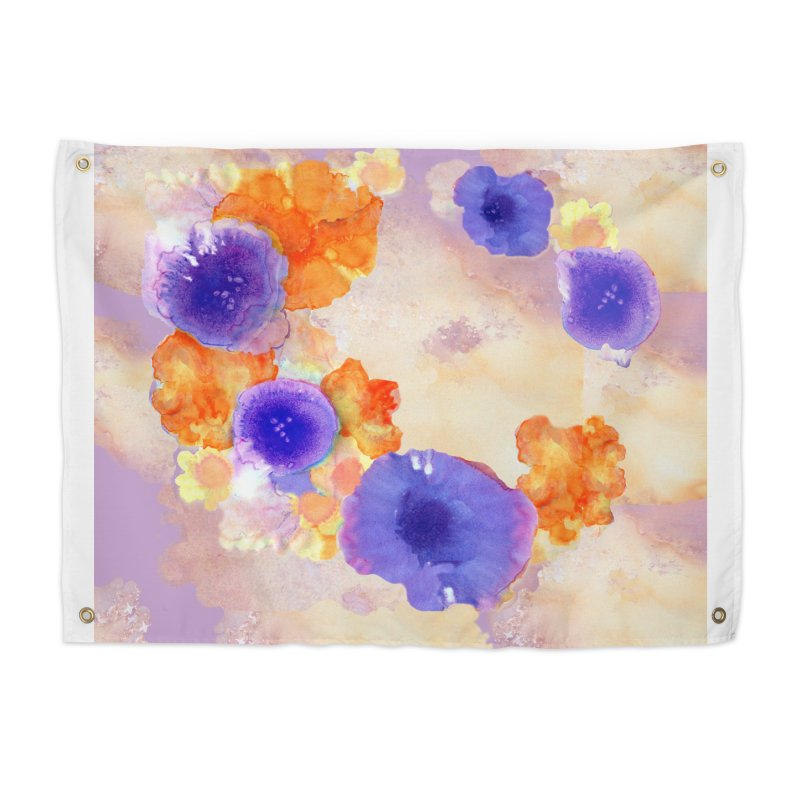 Flower Garden Home Tapestry by Patricia Howitt's Artist Shop