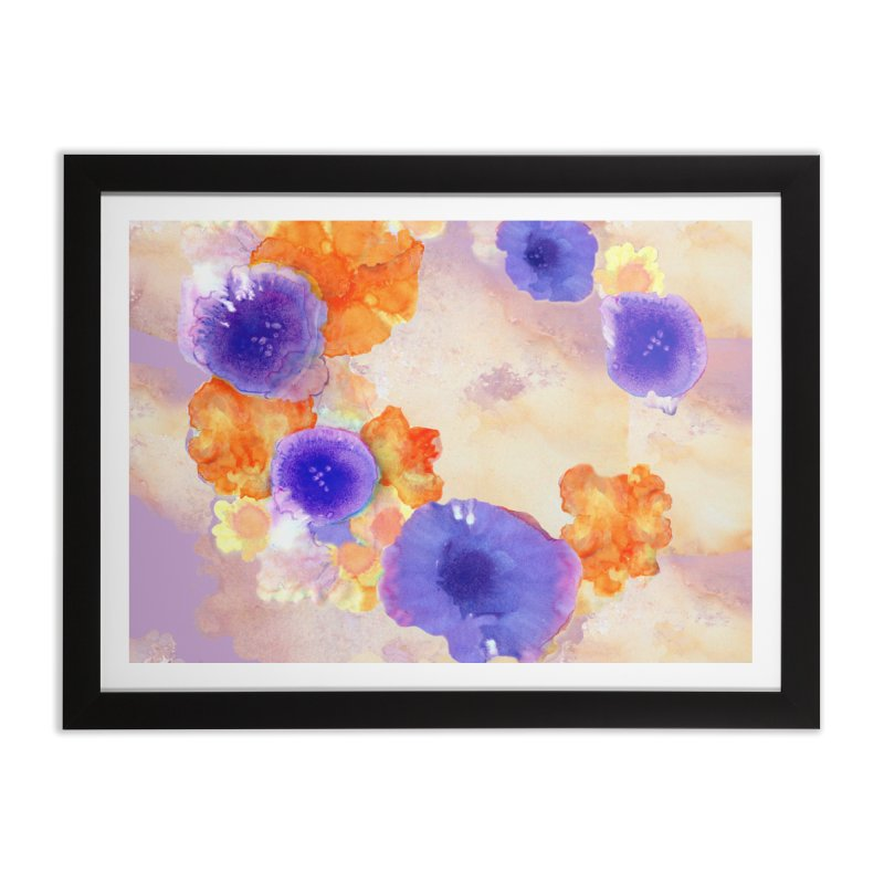 Flower Garden Home Framed Fine Art Print by Patricia Howitt's Artist Shop