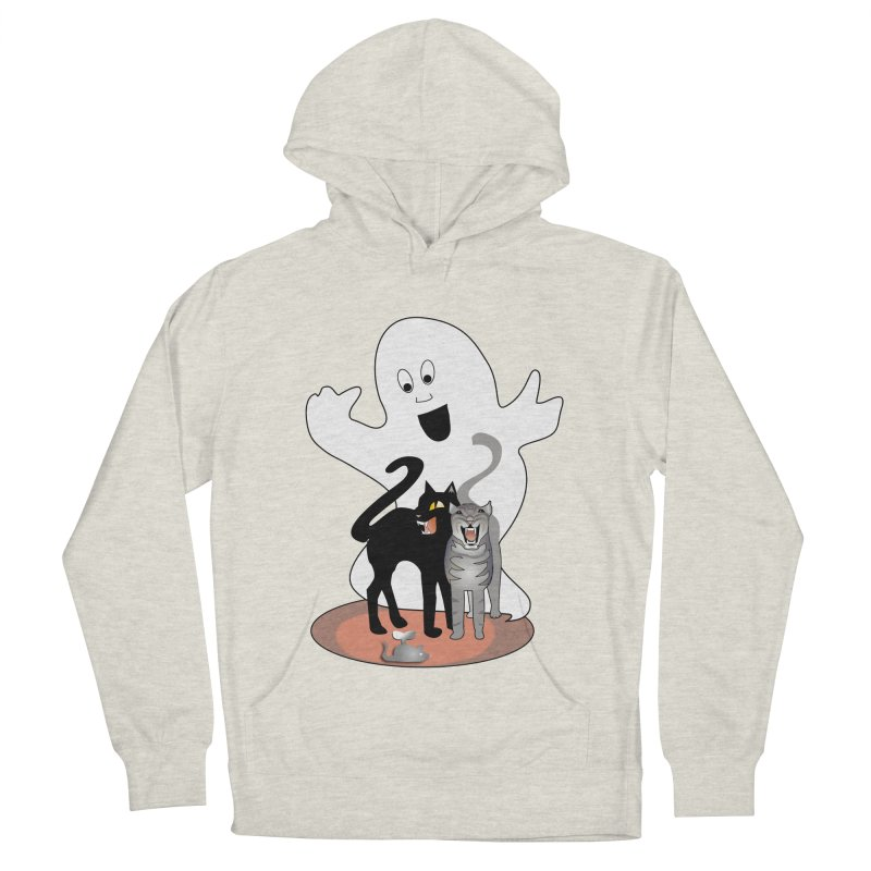 Scaredy Women's French Terry Pullover Hoody by Patricia Howitt's Artist Shop