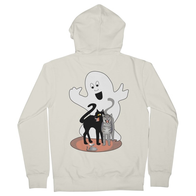 Scaredy Men's French Terry Zip-Up Hoody by Patricia Howitt's Artist Shop