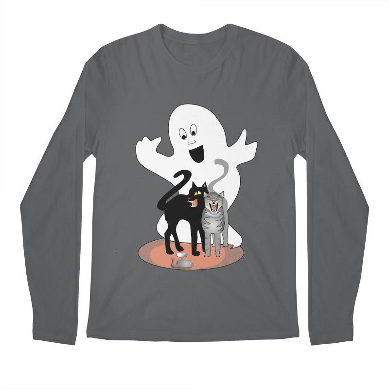 Scaredy Men's Longsleeve T-Shirt by Patricia Howitt's Artist Shop
