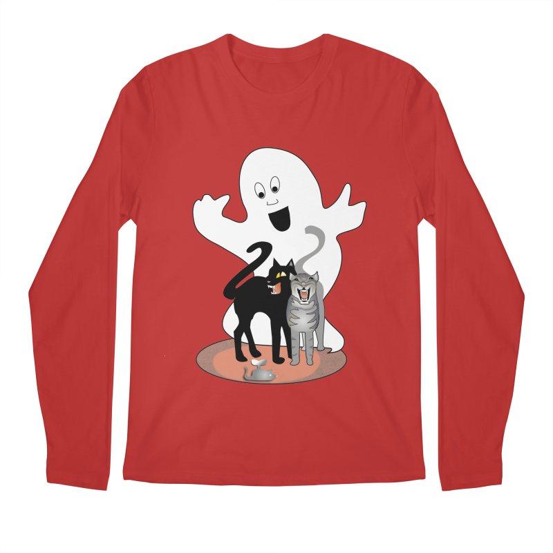 Scaredy Men's Regular Longsleeve T-Shirt by Patricia Howitt's Artist Shop