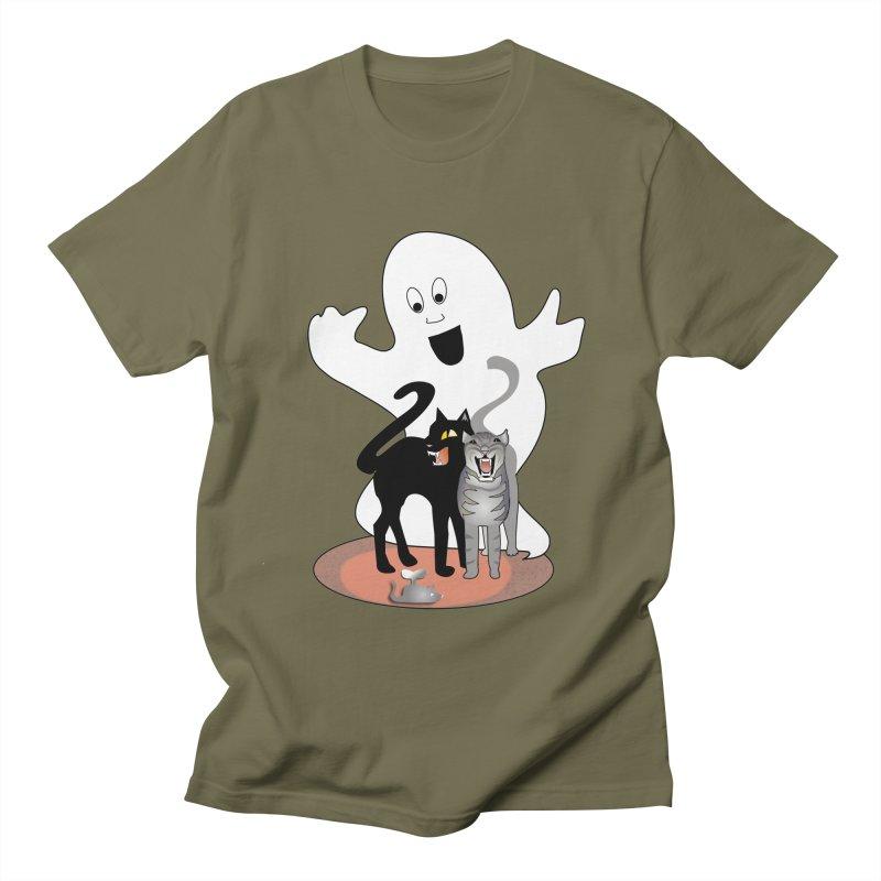 Scaredy Men's Regular T-Shirt by Patricia Howitt's Artist Shop