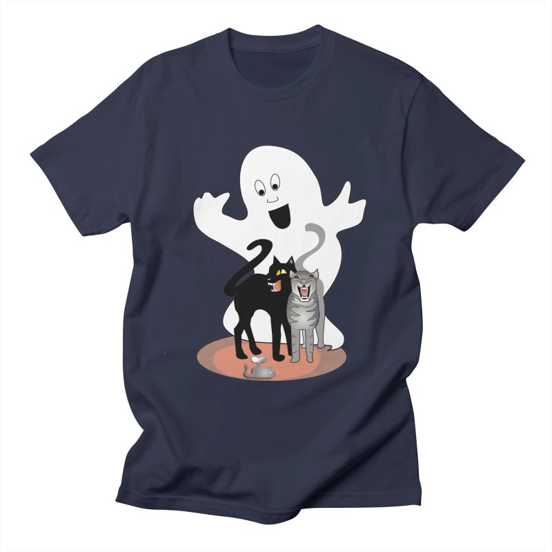 Scaredy Men's Regular T-Shirt by Patricia Howitt's Artist Shop