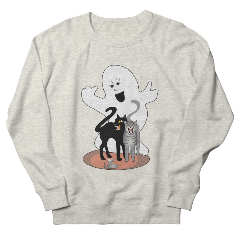 Scaredy Men's French Terry Sweatshirt by Patricia Howitt's Artist Shop