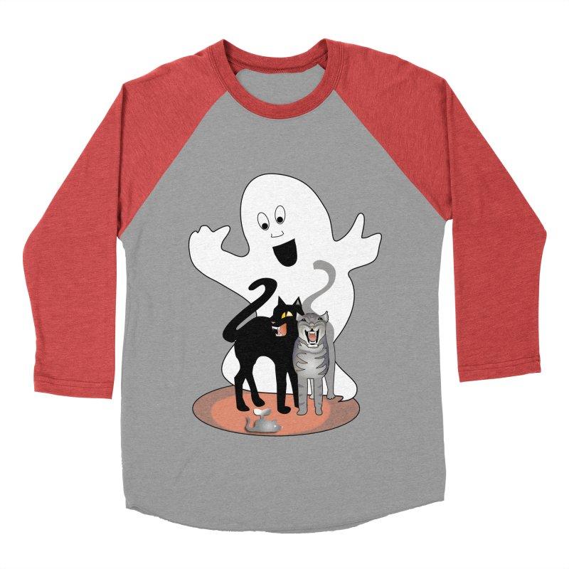 Scaredy Women's Baseball Triblend Longsleeve T-Shirt by Patricia Howitt's Artist Shop