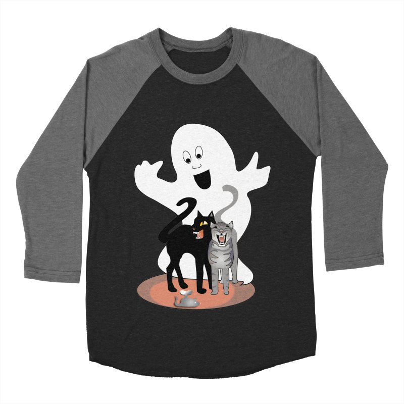 Scaredy Men's Baseball Triblend T-Shirt by Patricia Howitt's Artist Shop