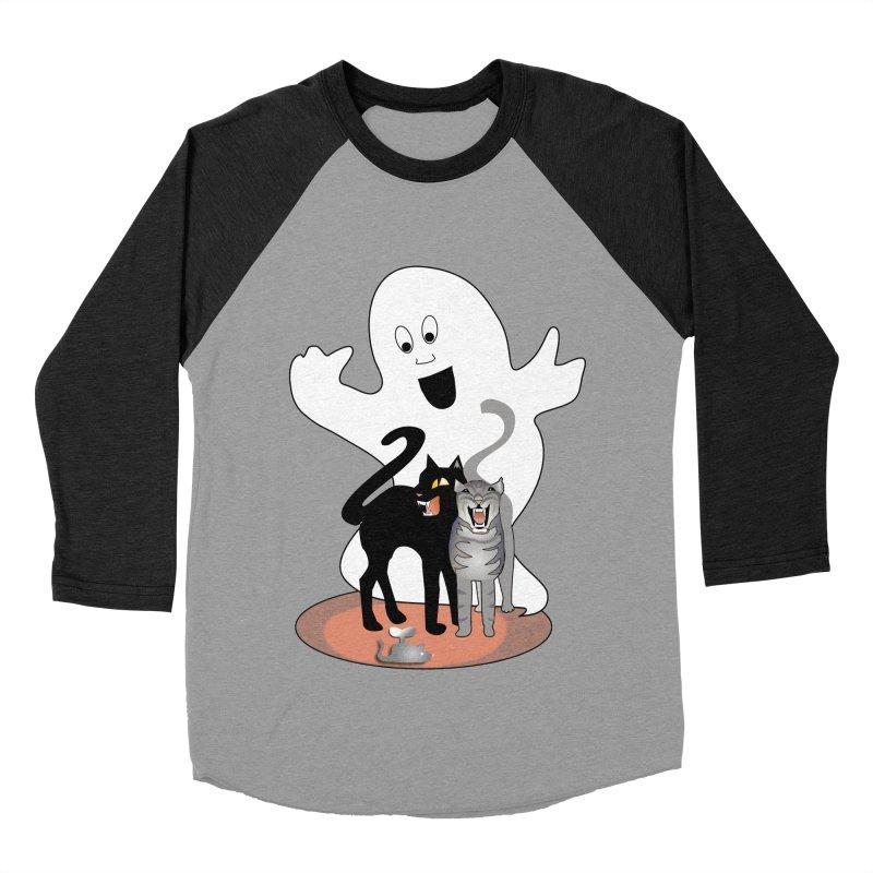 Scaredy Men's Baseball Triblend Longsleeve T-Shirt by Patricia Howitt's Artist Shop