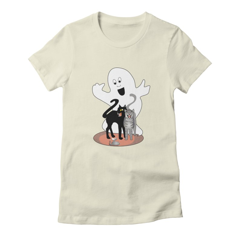 Scaredy Women's Fitted T-Shirt by Patricia Howitt's Artist Shop