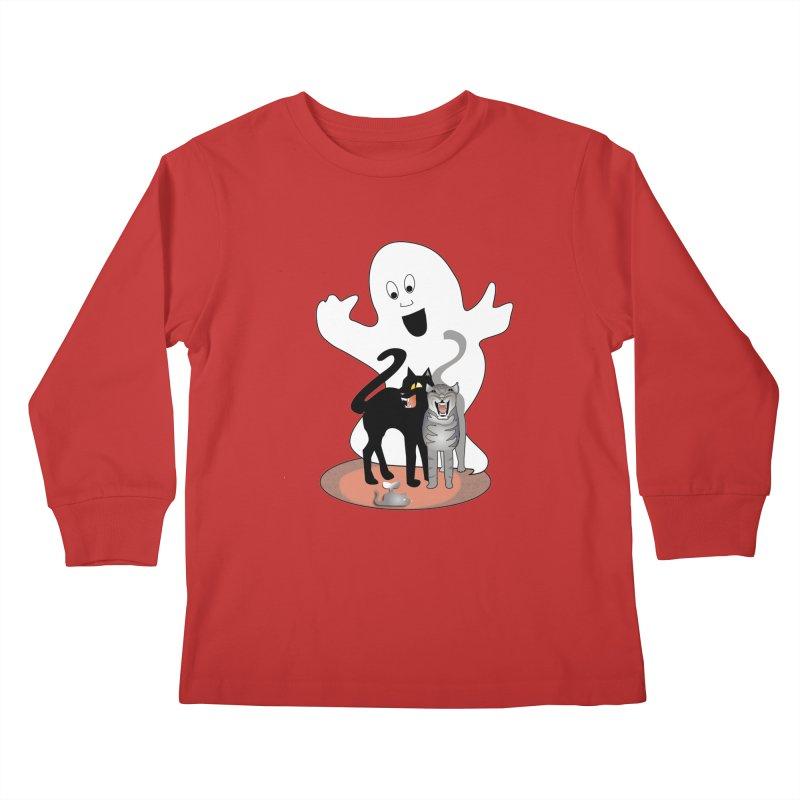 Scaredy Kids Longsleeve T-Shirt by Patricia Howitt's Artist Shop