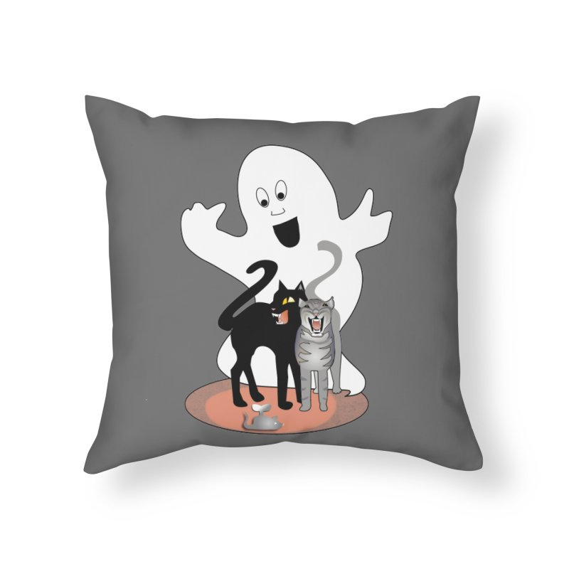 Scaredy Home Throw Pillow by Patricia Howitt's Artist Shop