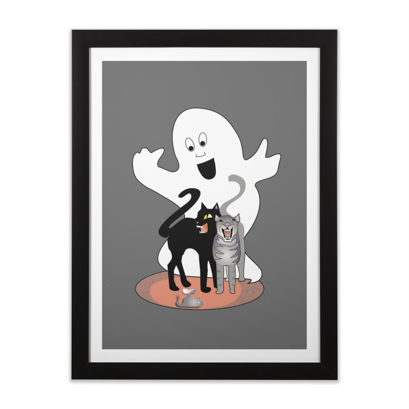 Scaredy Home Framed Fine Art Print by Patricia Howitt's Artist Shop