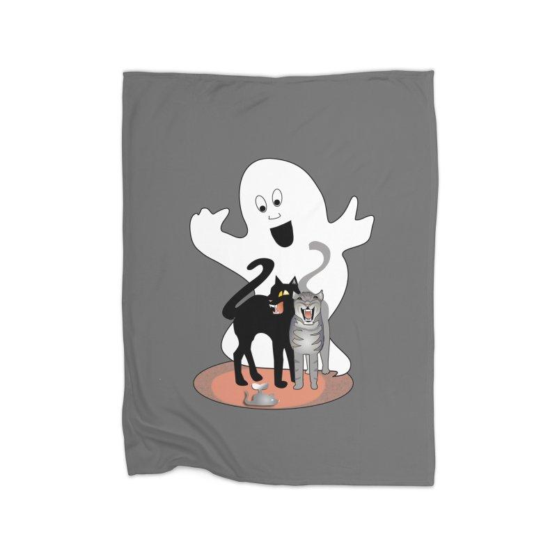 Scaredy Home Fleece Blanket Blanket by Patricia Howitt's Artist Shop