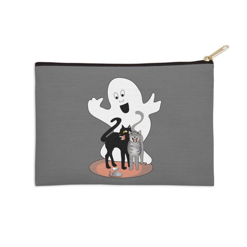 Scaredy Accessories Zip Pouch by Patricia Howitt's Artist Shop