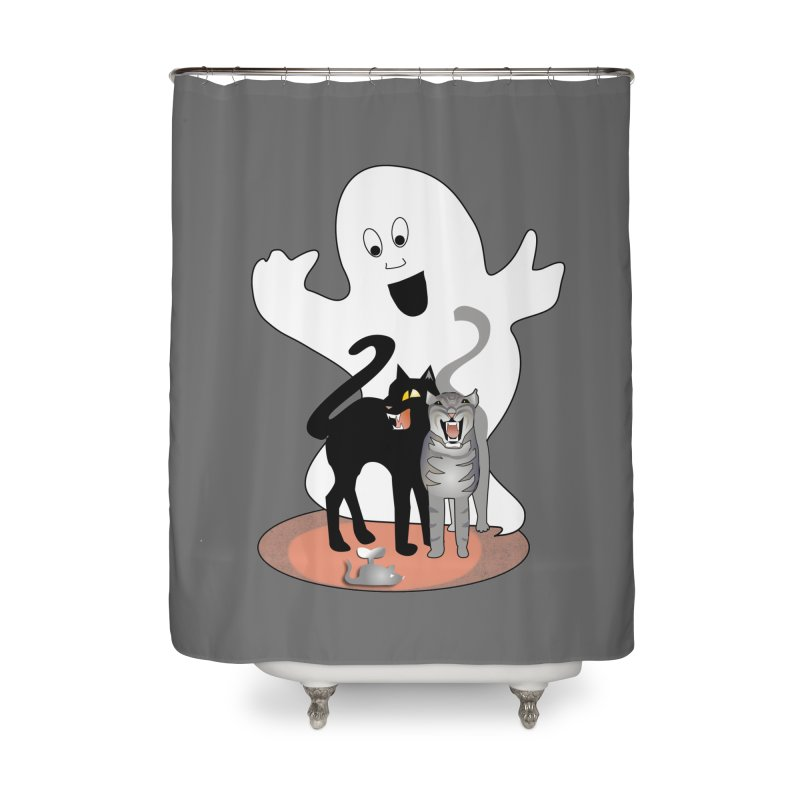 Scaredy Home Shower Curtain by Patricia Howitt's Artist Shop