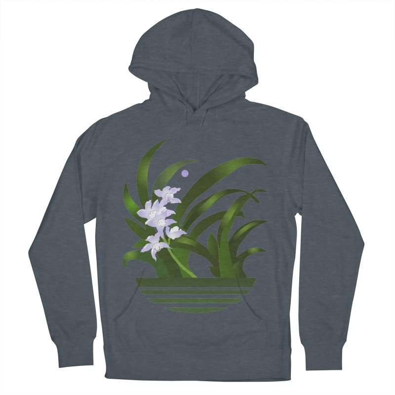 Orchid Moon Women's French Terry Pullover Hoody by Patricia Howitt's Artist Shop
