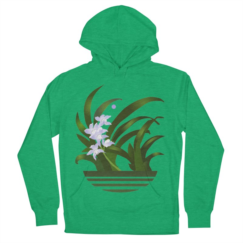 Orchid Moon Men's Pullover Hoody by Patricia Howitt's Artist Shop