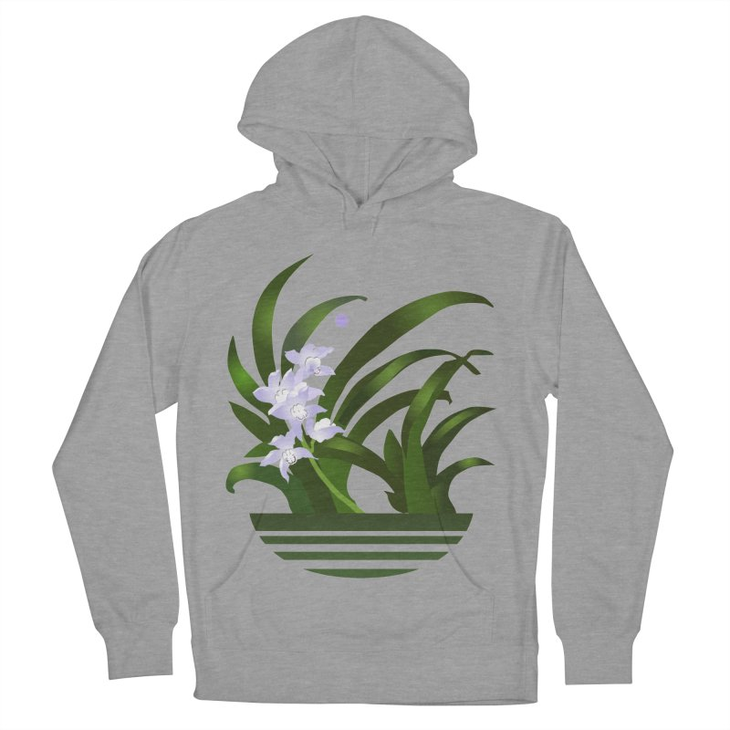 Orchid Moon Men's French Terry Pullover Hoody by Patricia Howitt's Artist Shop