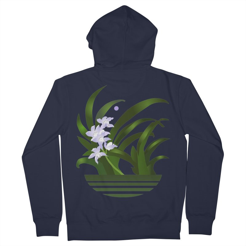 Orchid Moon Women's French Terry Zip-Up Hoody by Patricia Howitt's Artist Shop