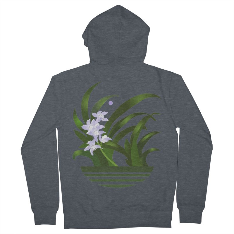 Orchid Moon Men's French Terry Zip-Up Hoody by Patricia Howitt's Artist Shop