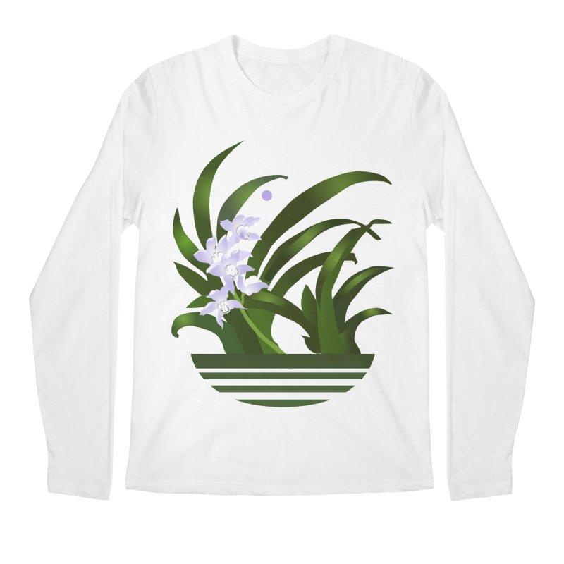 Orchid Moon Men's Regular Longsleeve T-Shirt by Patricia Howitt's Artist Shop