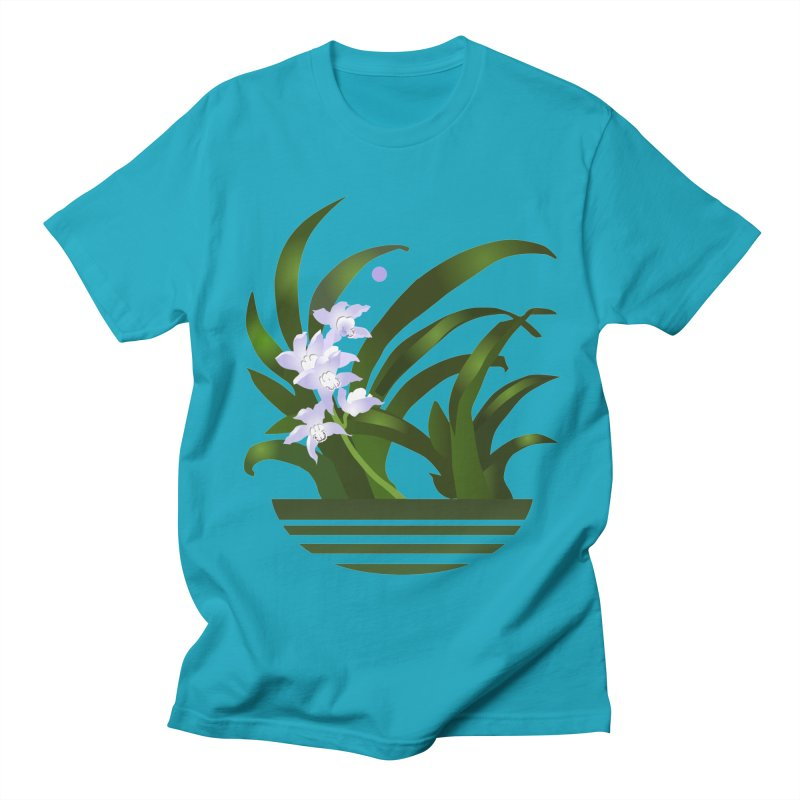 Orchid Moon Men's T-shirt by Patricia Howitt's Artist Shop