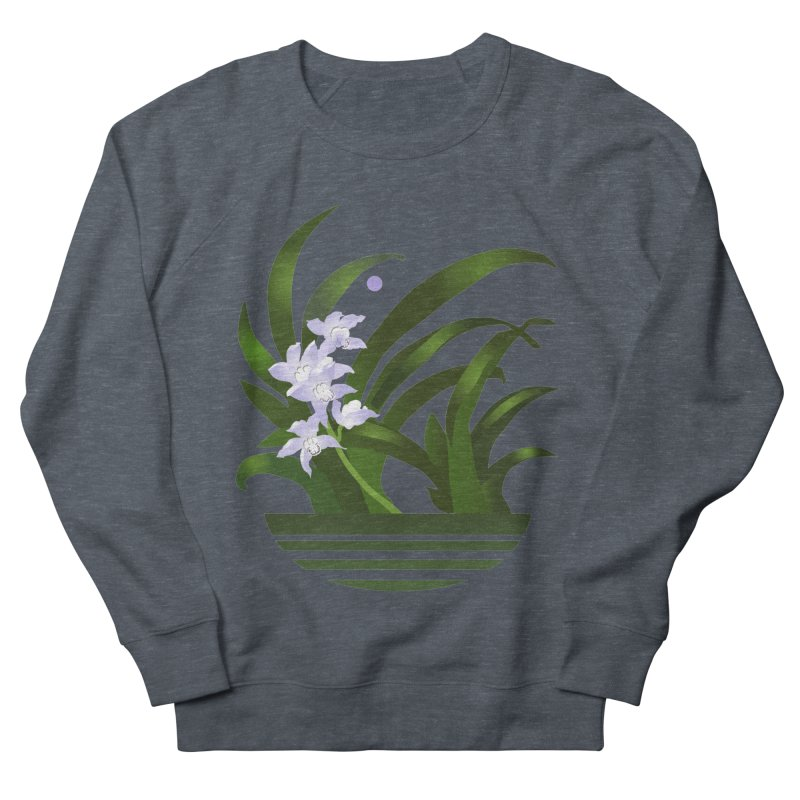 Orchid Moon Women's Sweatshirt by Patricia Howitt's Artist Shop