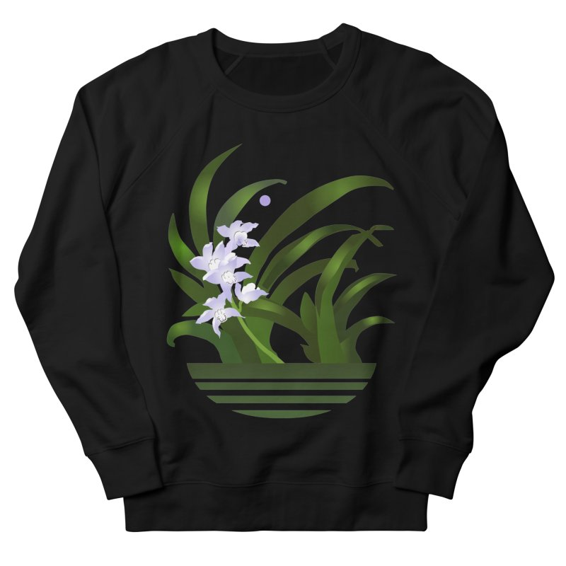 Orchid Moon Women's French Terry Sweatshirt by Patricia Howitt's Artist Shop