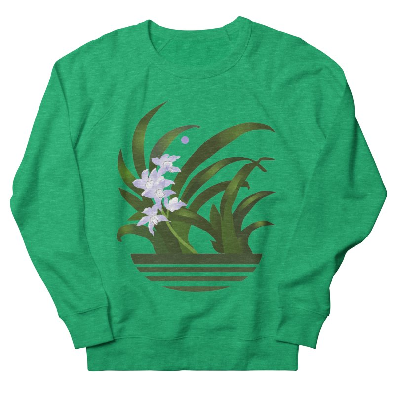 Orchid Moon Men's French Terry Sweatshirt by Patricia Howitt's Artist Shop